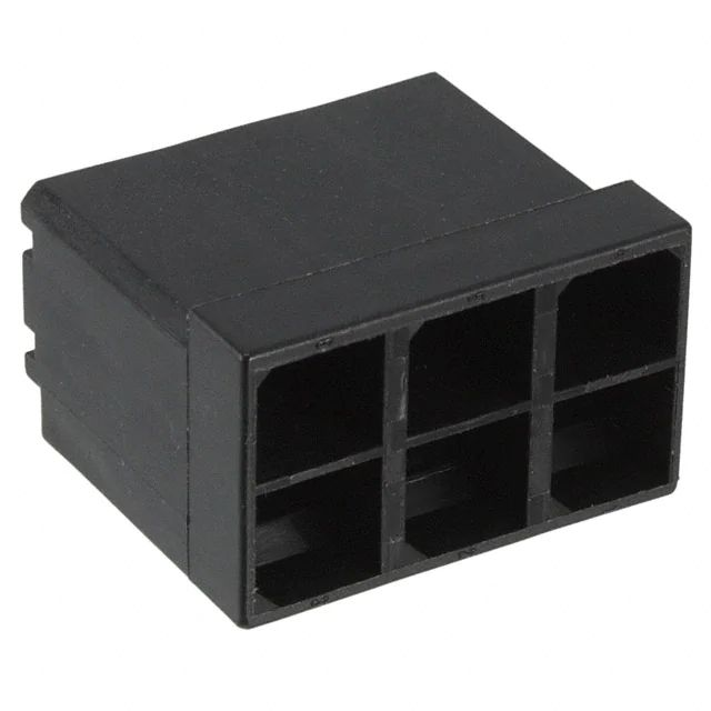 Power Connector female 2 way black