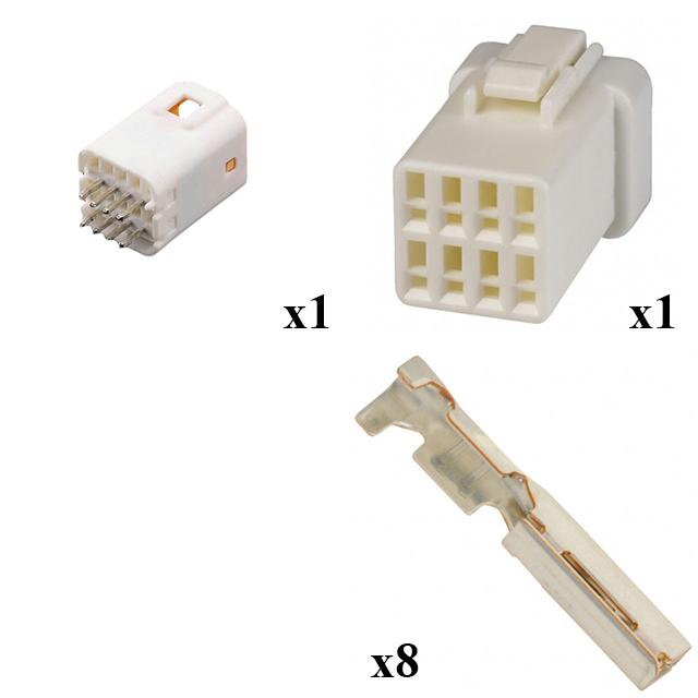 Micro-Power Quadlok System Steckverbinder weiblich 4X2 Wege