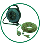 Extensiones eléctricas y enrollador de cable